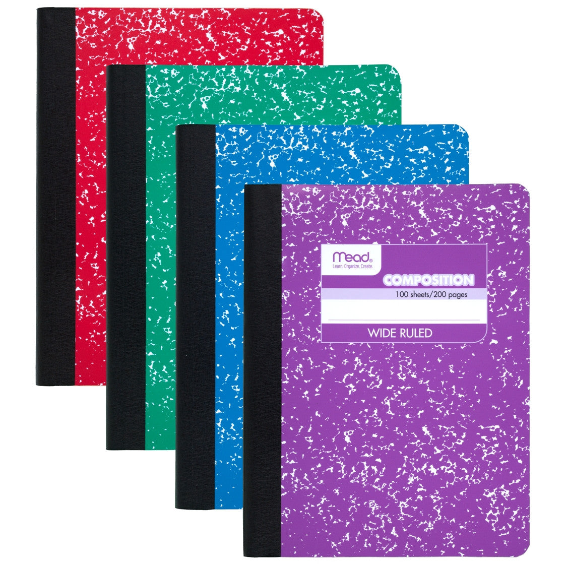 Mead® Square Deal® Fashion Composition Book  100 ct WR, Assorted Colors (09918)