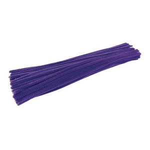 Colorations Violet Pipe Cleaners, 100 Pack, Purple (208691)