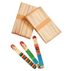 "Colorations Large Natural Craft Sticks, Set of 100, 6"" x 0.75"" (03037)"
