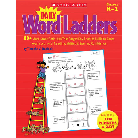 Scholastic Daily Word Ladders, Grades K-1, Word Study Activities (SC-522379)
