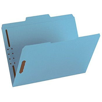 Smead Fastener File Folder, Reinforced 1/3-Cut Tab, Blue, 50 per Box (12040)