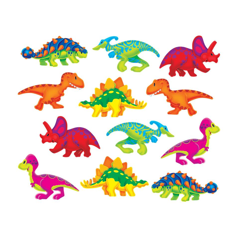 Trend Enterprises Dino-Mite Pals Mini or Classic Accents Variety Pack, 36 Sheets (T-10991/10865)