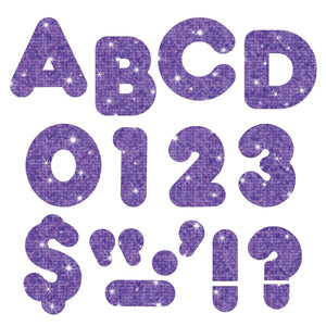 "Trend Ready Letters Combo Pack, Purple Sparkle, 4"" (T-1618)"