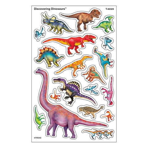 Trend superShapes Discovering Dinosaurs Stickers, 152 per pack (T-46329)