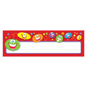 Trend Smiley Faces Desk Toppers Name Plates, 36/pack (T-69043)