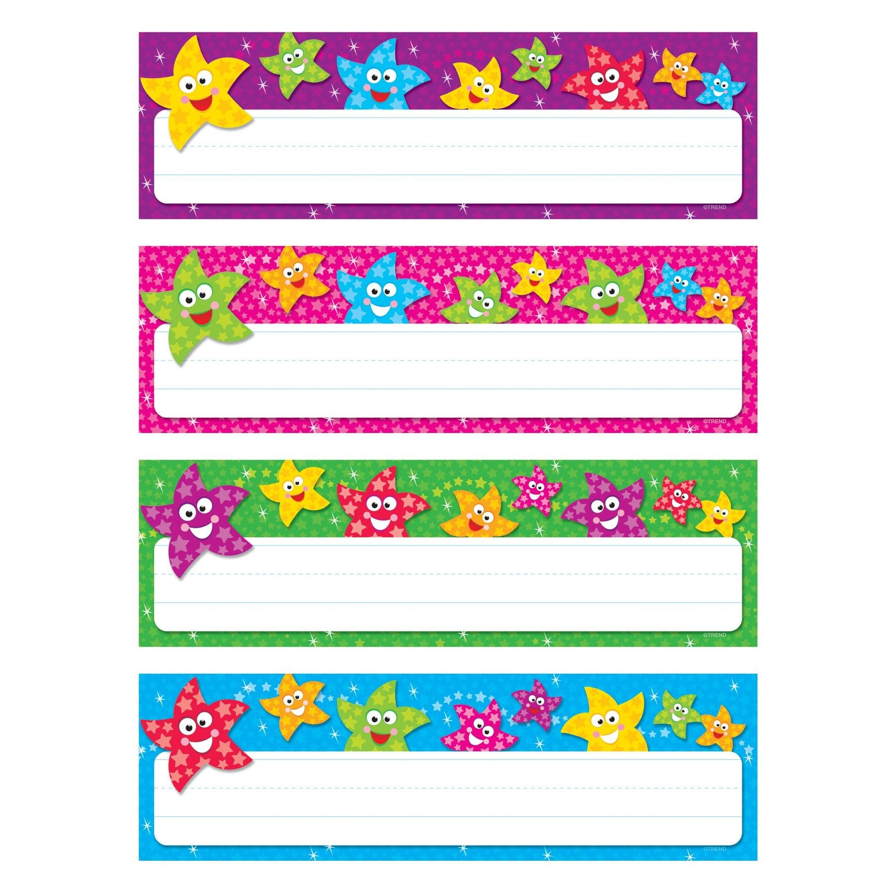 Trend Dancing Stars Variety Desk Name Plates, 32/pack (T-69909)