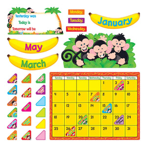 Monkey Mischief Calendar Bulletin Board Set (T-8340)