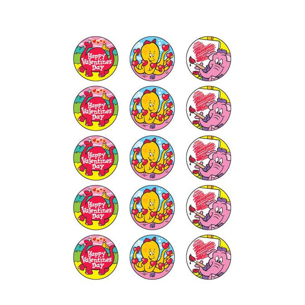 Stinky Stickers Scratch and Sniff -Chocolate Cherry Scent Valentines Day T-83406