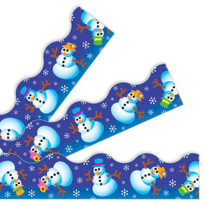 Trend Enterprises Winter Fun Terrific Trimmers Border, Snowmen 39' (T91406)