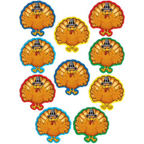 Teacher Created Turkeys Accents Cut Outs 30 pcs (TCR 5288)