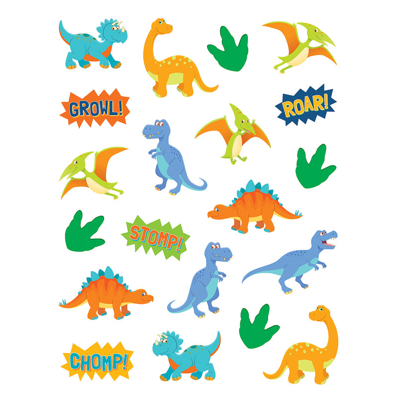 Teacher Created DINOSAUR Stickers, 120 ct (8197)