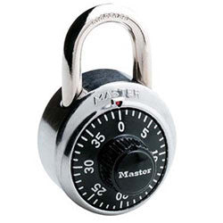 Master Lock General Security Combination Padlock, Black Dial