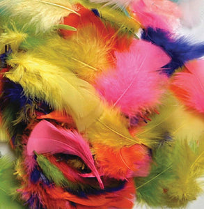 Creativity Street Turkey Plumage Feathers, Bright Hues (PAC4500-01)