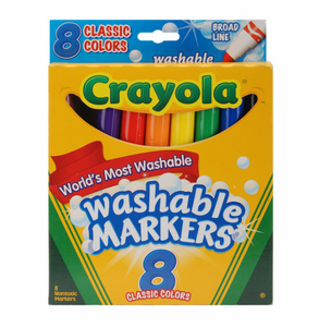 Crayola® Ultra Clean Washable Markers, Classic Colors, Broad Line (8 count)