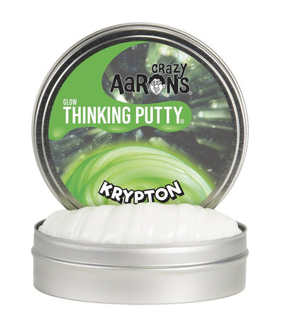 "Krypton Glow 4"" or 2"" Thinking Putty"