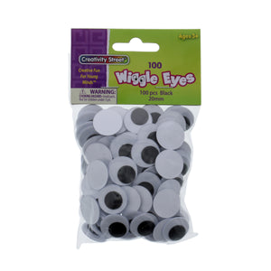 Creativity Street Wiggle Eyes 100 Pcs 20 mm (34752)