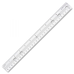 "Sparco Clear Plastic Standard 12"" Ruler Inches and cm, 1/16"" markings (1488)"
