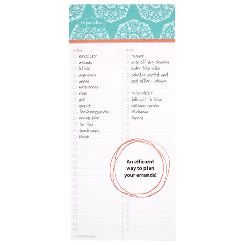 "Mead OrganizHer To-Do Notepad, 75 Sheets, 4"" x 9"" (57065)"