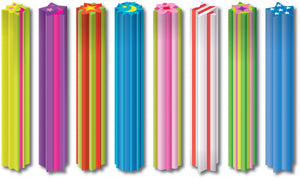 "Westcott 6"" Eraser Sticks (Assorted Colors)"