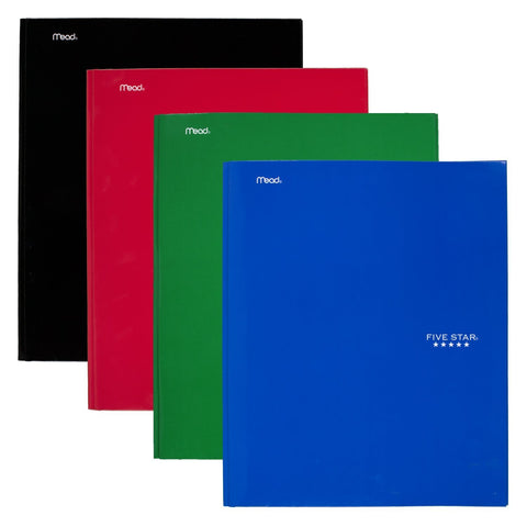 Five Star® Pocket/Prong Folder (34002) Assorted Colors