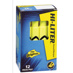 Avery Desk Style HI-LITER, Yellow, 12 Pack (24000)