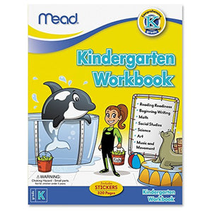 Mead® Kindergarten Workbook, Reading, Writing, Math, Science Grade K (48082)