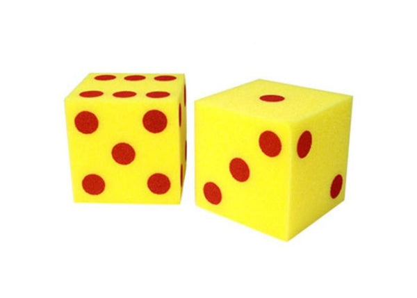 Learning Resources Giant Soft Cubes Dice, Set of 2 (LER0411/LER0412)