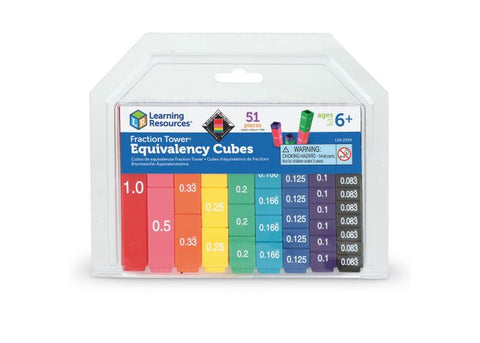 Learning Resources Fraction Tower Cubes - Equivalency Set (LER2509)