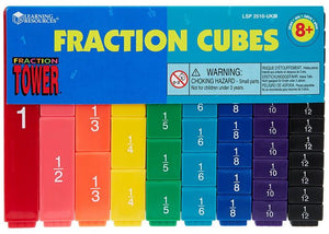Learning Resources Fraction Tower Cubes - Fraction Set (LER2510)