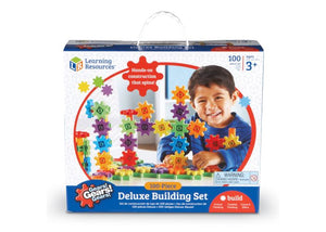Learning Resources Gears! Gears! Gears! Deluxe Building Set, Set of 100 (LER9162)