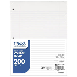 Mead® Loose Leaf Filler Paper 200ct CR (15326) College Ruled