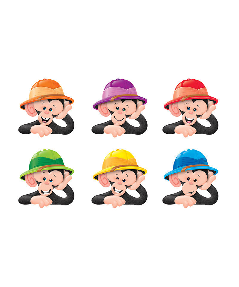 Trend Enterprises Monkey Mischief Hats Small/Large Accents Variety Pack (T-10895/10640)