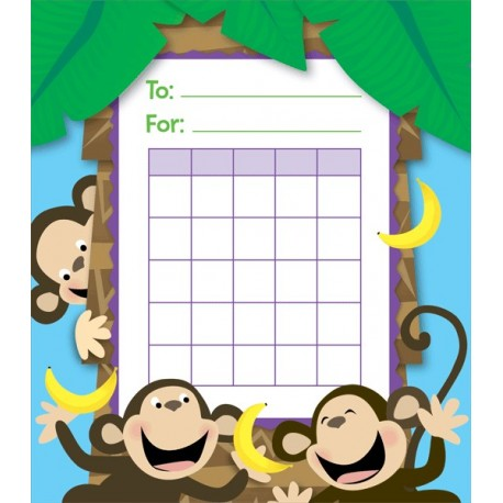Creative Teaching Press Monkeys Motivational Charts, Pack of 36 (CTP 1423)