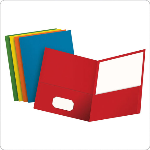 Box of 25 Twin Pocket Folders #57513 Assorted Colors