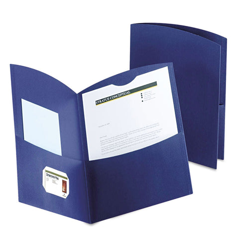 Oxford Contour Two Pocket Dark Blue Folders (25)