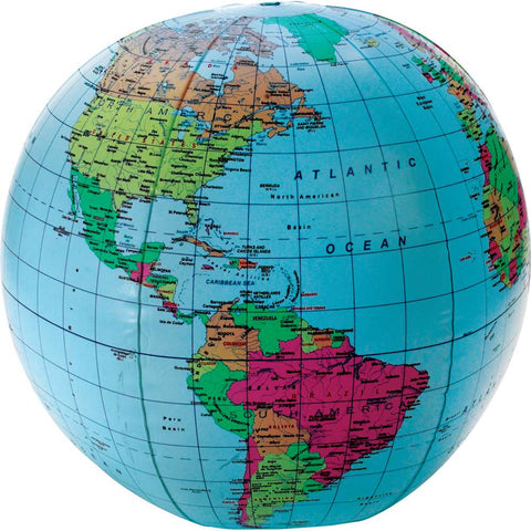 "Learning Resources 11"" Inflatable World Globe (2432)"