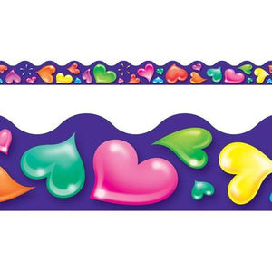 Trend Colorful Hearts Terrific Trimmers Borders 39' (T92312) Valentine's Day