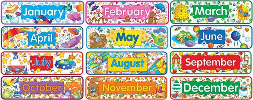 Months of the Year  - 12 Month Tiles (Happy Headlines CTP 0982)