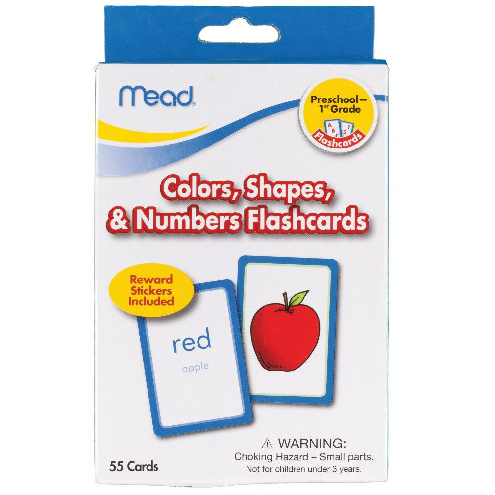 Mead® Colors, Shapes, & Numbers Flashcards, Grades PK-1 (63403)