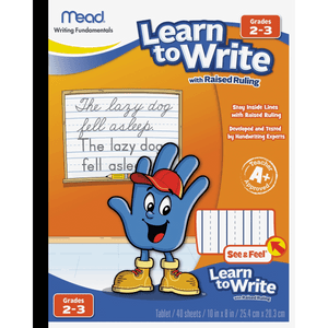 Mead® Learn to Write Writing Tablet Raised Ruling, 40ct, Grades 2-3 (48556)