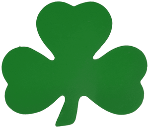"Beistle Green Shamrock 2-Sided Cutouts, 5"" 10 Pack (33840)"