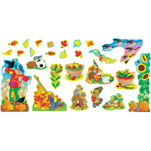 Trend FALL THINGS Bulletin Board Set Scarecrow Harvest 26 Pcs (T-8174)