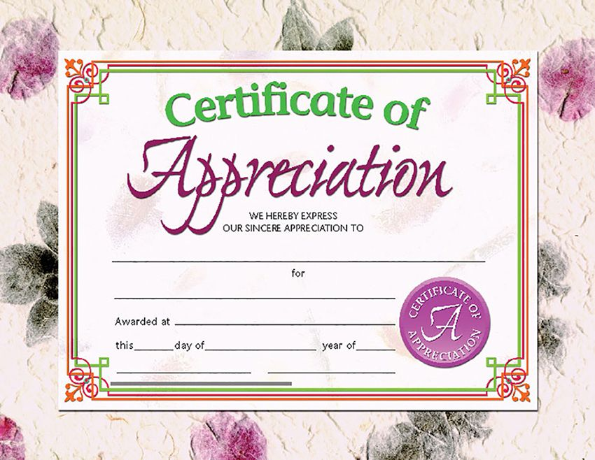 "Hayes Certificate of Appreciation, Pack of 30, 8.5"" x 11"" (VA614)"