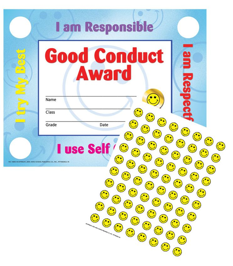 Good Conduct Award Certificates, Pack of 30 (VA 803)