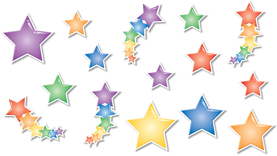 North Star Teacher Resources Stars Bulletin Board Accents, 64 Accents (NS3207)