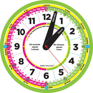 "Ashley Time Zone™ 12"" Advanced Instruction Teaching Clock (ASH50201)"
