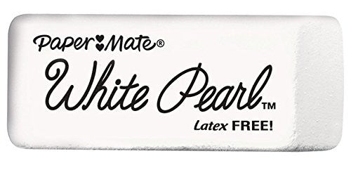 Paper Mate® White Pearl Eraser, Large, Pack of 2