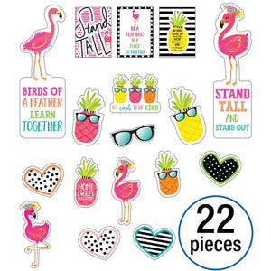 Carson Dellosa Simply Stylish Tropical Motivational Mini Bulletin Board Set (CD-110466)