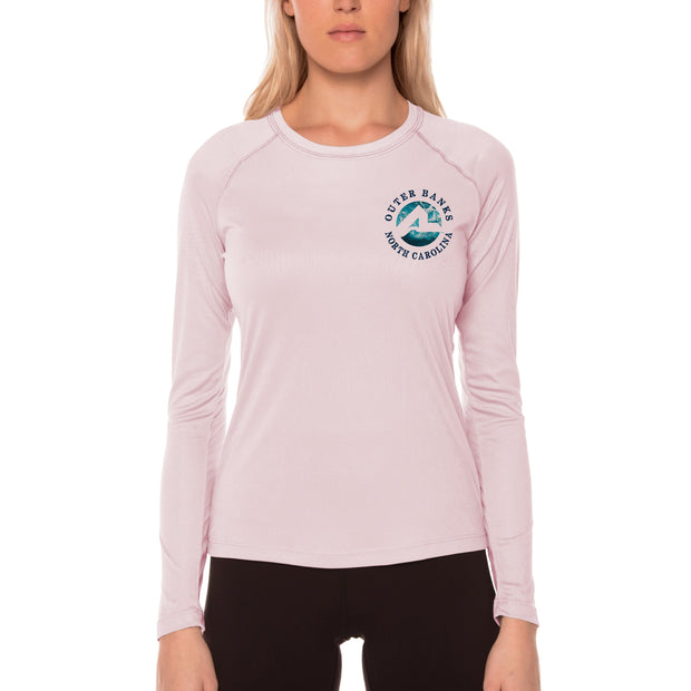 Fish Charts Outer Banks Women's UPF 50+ Long Sleeve T-Shirt