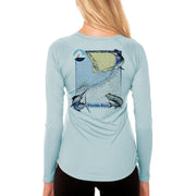 Fish Charts Florida Keys Women's UPF 50+ Long Sleeve T-Shirt